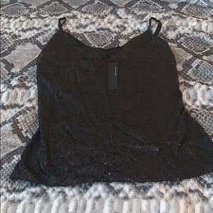 NWT Black sequined camisole